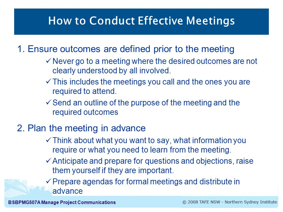 """how to conduct an effective meeting essay The 5 p's for effective meetings - sdlc stage's meetings research essay """"a meeting is a group of how to conduct an effective meeting - the."""