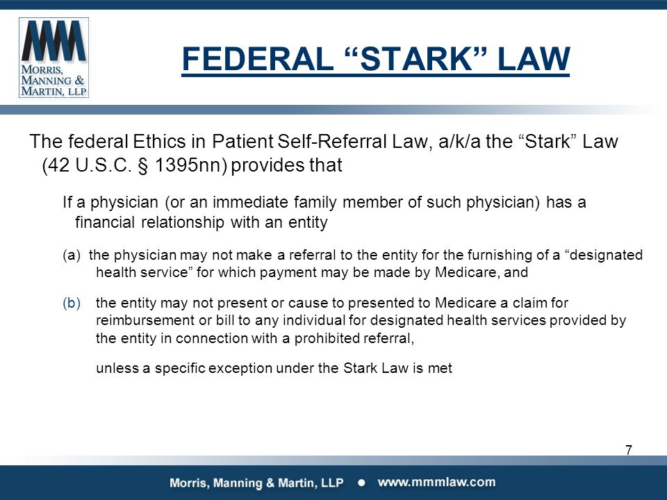 stark law backdating contracts The federal stark law and anti -kickback statute: personal services and management contracts e) stark law to medicaid designated health services in the same.
