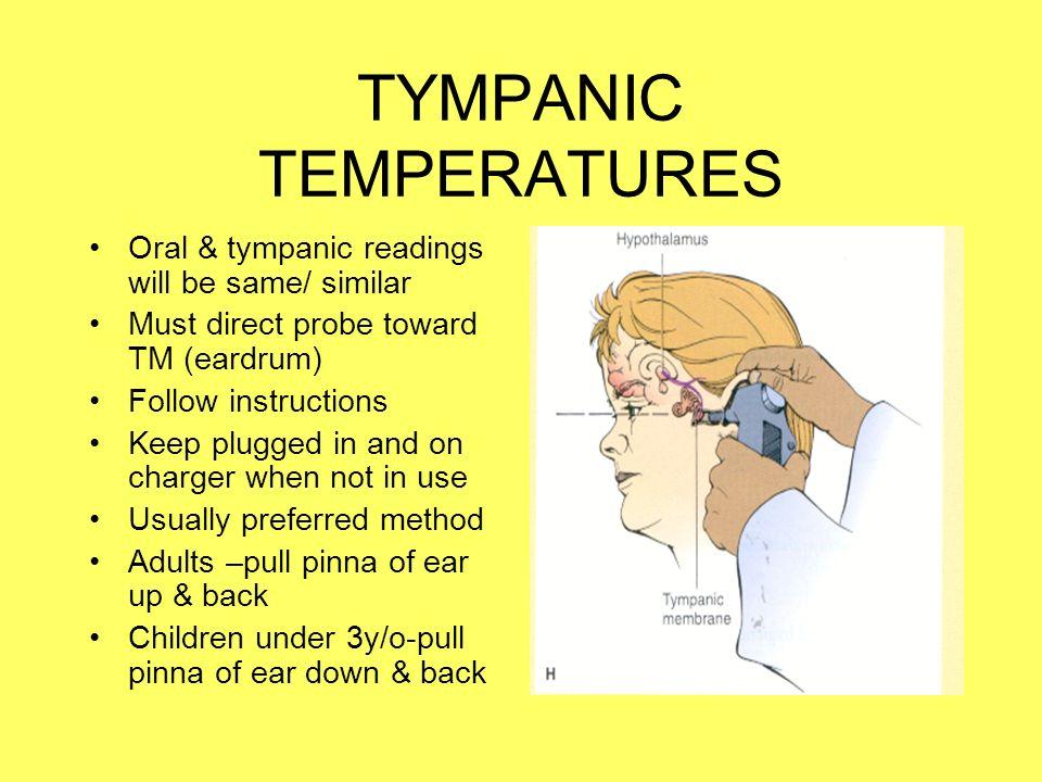 how to take tympanic temperature