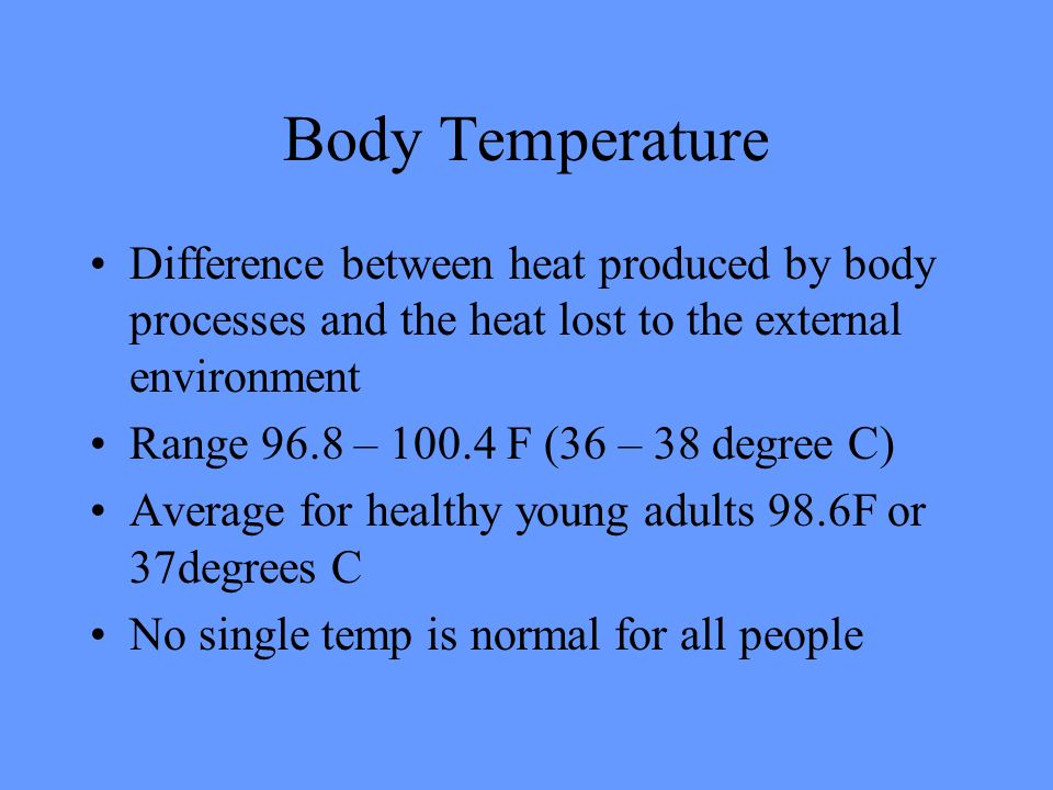 96 degree body temp in adult female