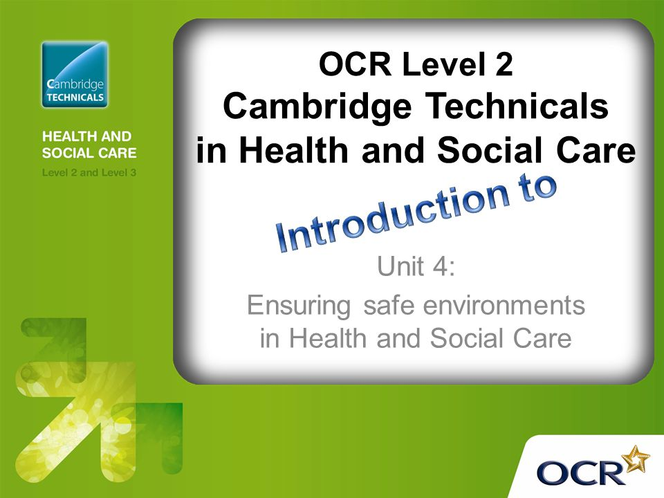 unit 11 health and social care coursework Unit 3 health, safety and security in health and social care - here we study the environments in which care is given and received and how the staff and the services users may be kept safe, healthy and secure from any form of abuse.