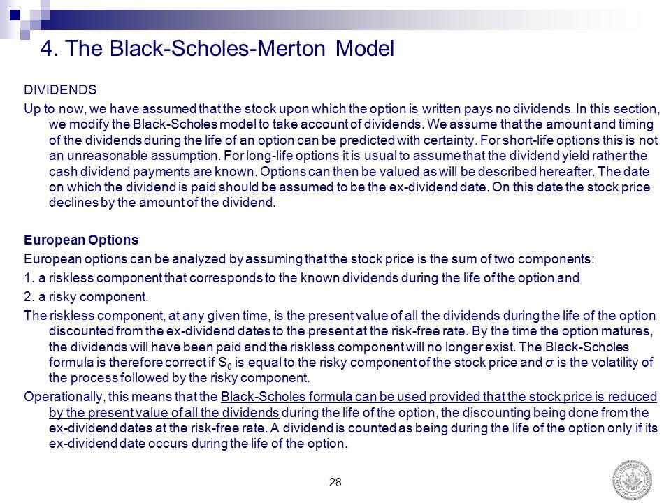 Chapter 13 valuing stock options the black-scholes-merton model