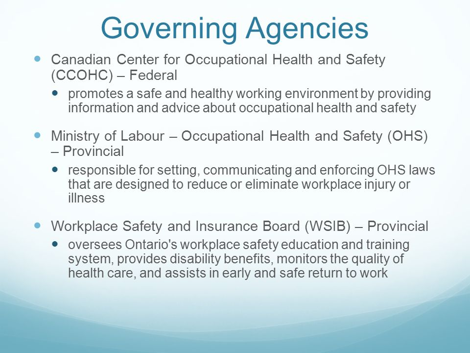 occupational health and safety in ontario pdf