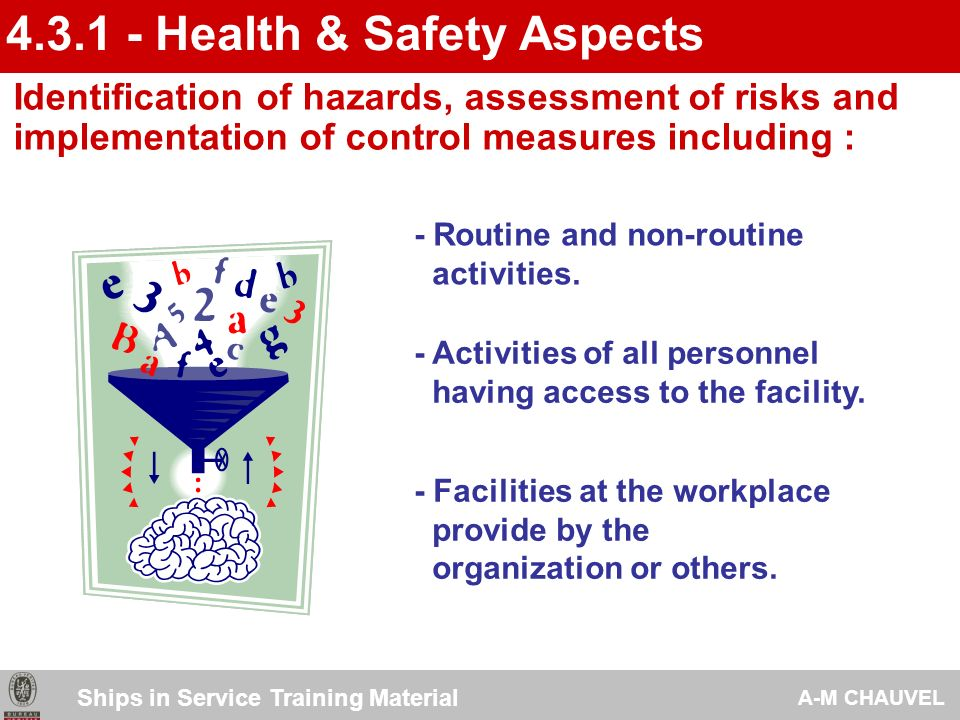 4.3.1 - Health & Safety Aspects