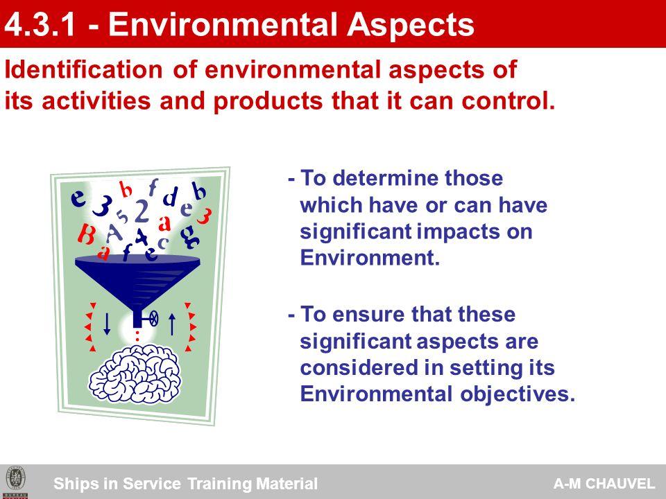 4.3.1 - Environmental Aspects