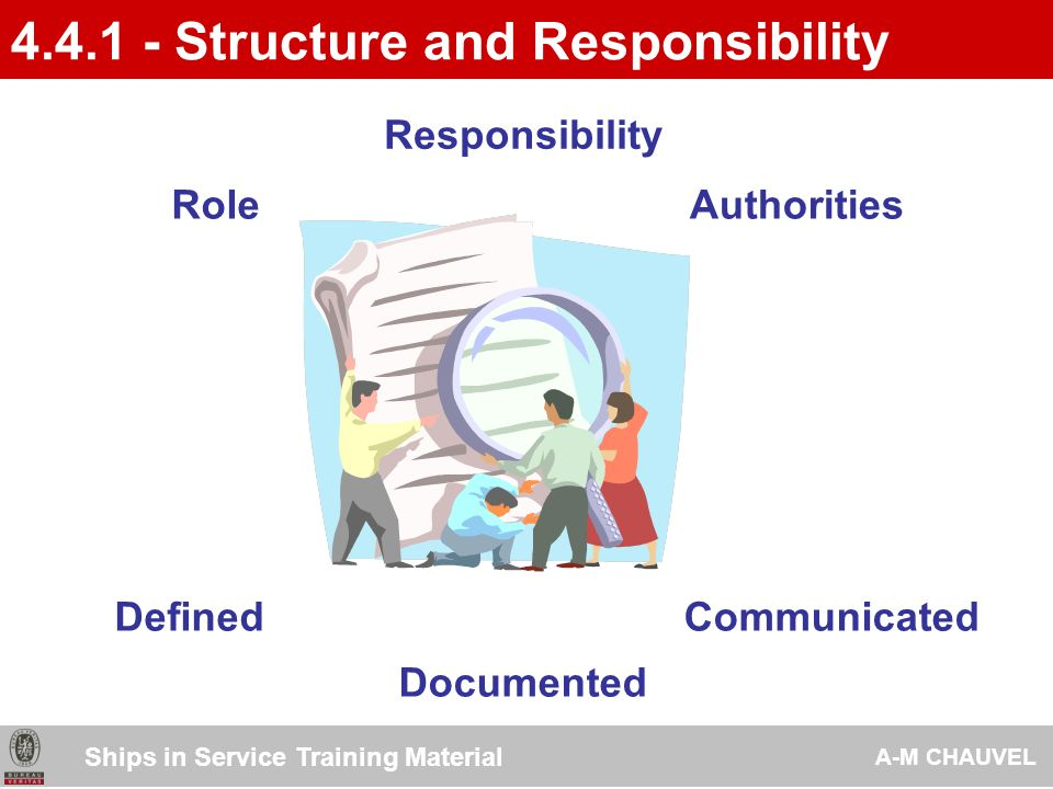 4.4.1 - Structure and Responsibility