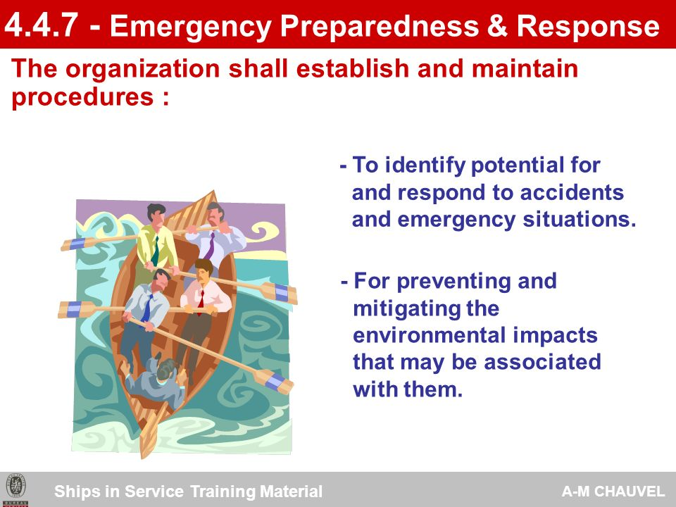 4.4.7 - Emergency Preparedness & Response