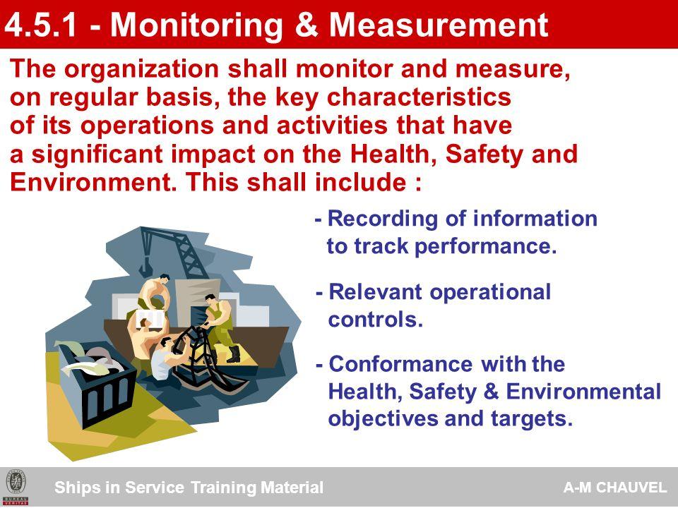 4.5.1 - Monitoring & Measurement