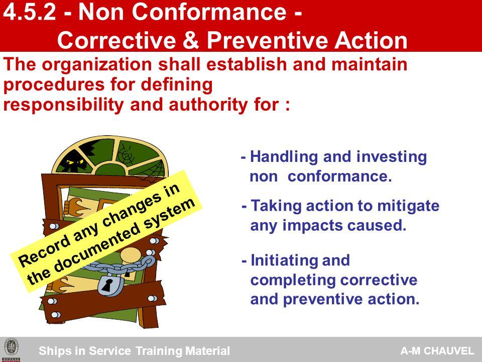 Corrective & Preventive Action