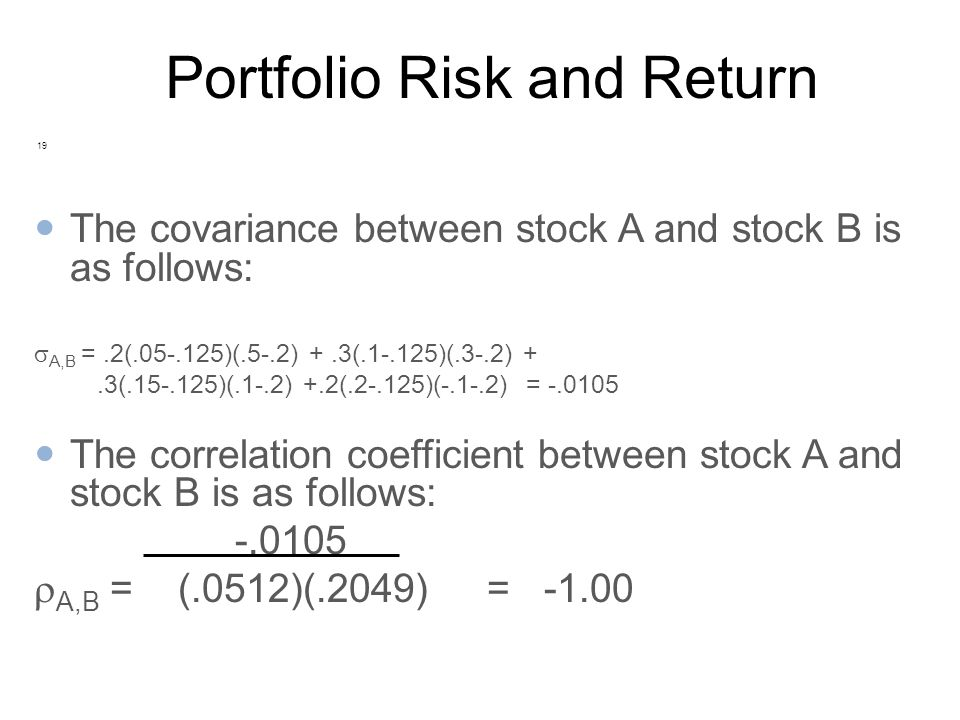 portfolio risk and return Chapter 5 the trade-off between risk and return © 2007 thomson south-western.