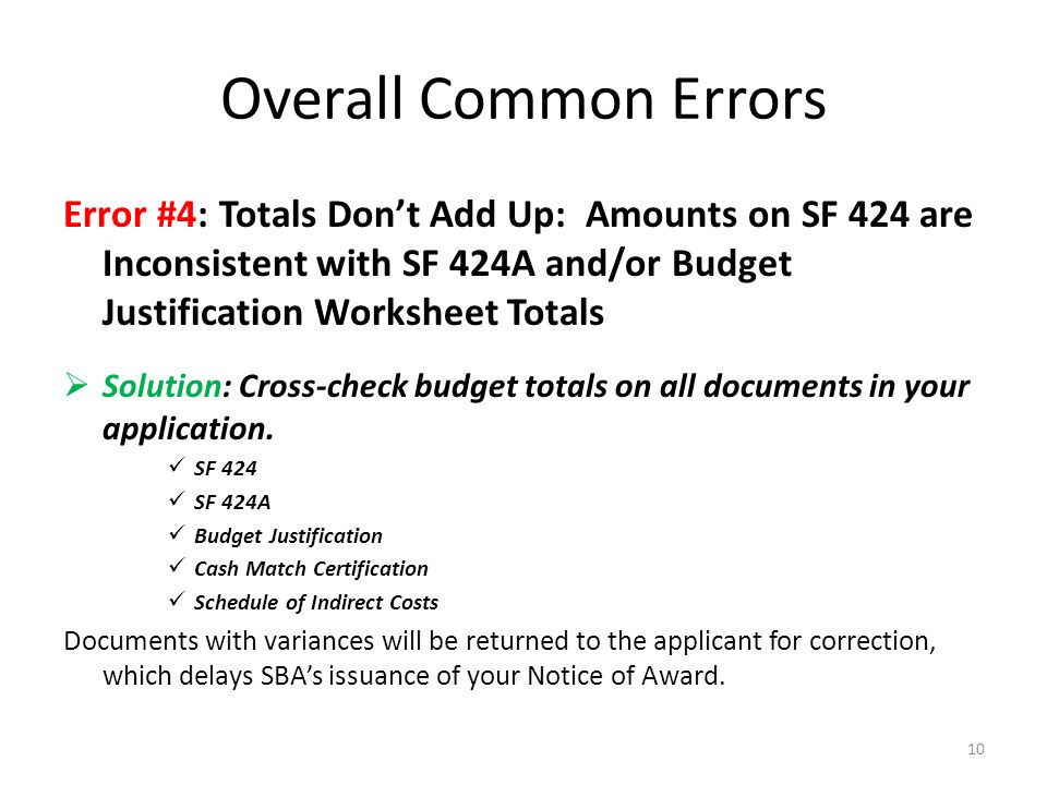 Webinar - SUBMITTING AN ERROR-FREE SBDC BUDGET: - ppt download