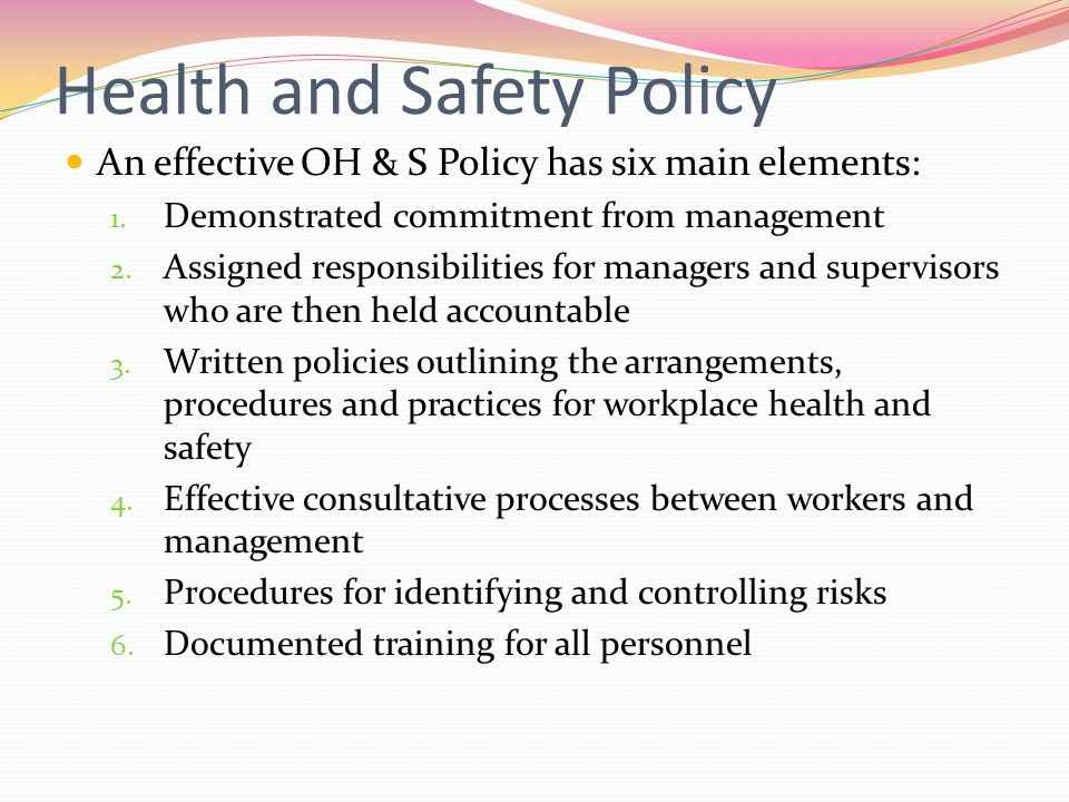 Occupational Health & Safety - Ppt Video Online Download