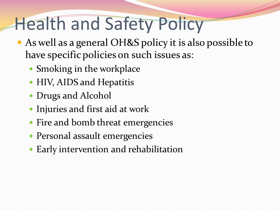 Occupational Health  Safety  Ppt Video Online Download