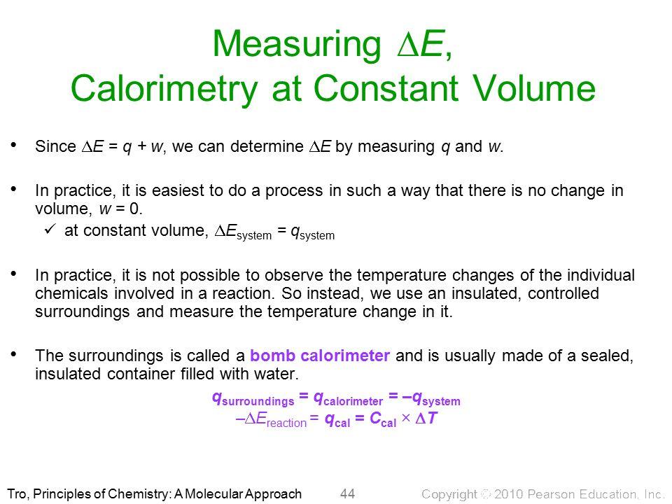 Principles of Chemistry A Molecular Approach 1st Ed Nivaldo Tro – Calorimetry Worksheet