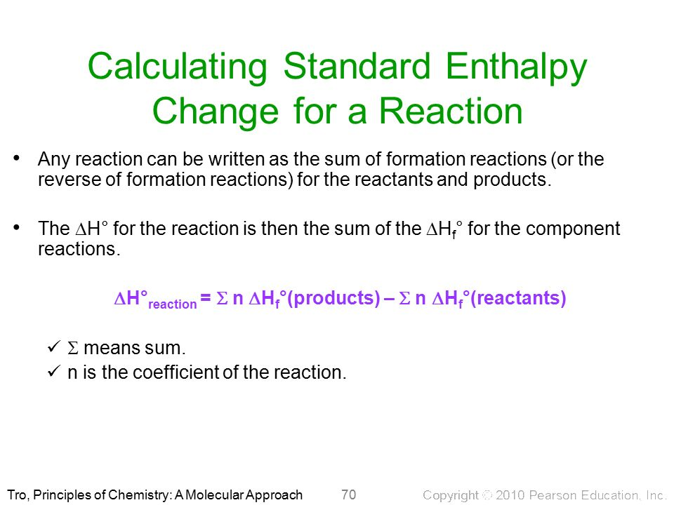 calculating the enthalpy change of reaction This page explains hess's law, and uses it to do some simple enthalpy change calculations involving enthalpy changes of reaction, formation and combustion hess's law stating hess's law hess's law is the most important law in this part of chemistry most calculations follow from it it says  .