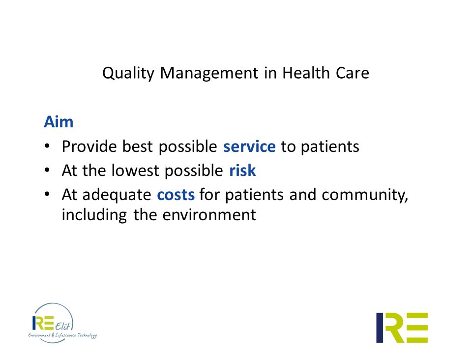 Quality management in healthcare. Health Care Quality Management: Tools and Applications