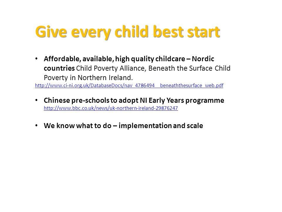 Give every child best start