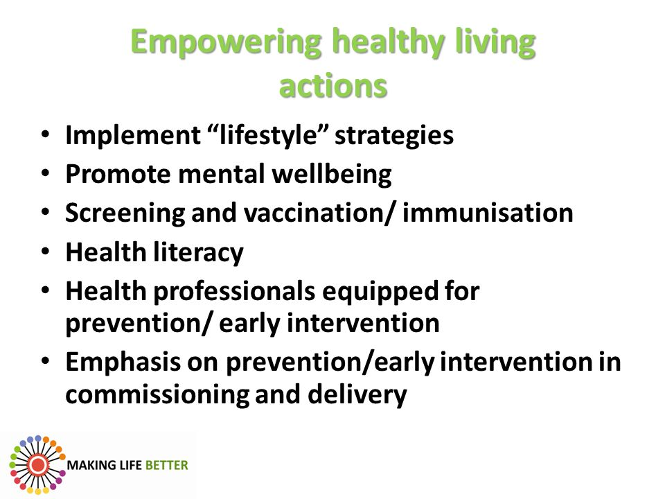 Empowering healthy living actions