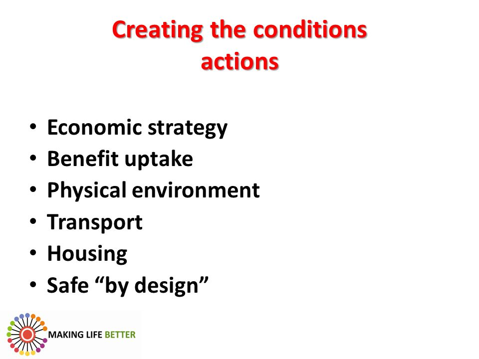 Creating the conditions actions