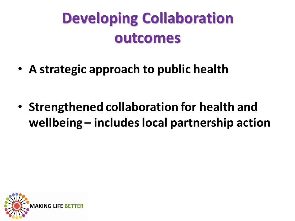 Developing Collaboration outcomes