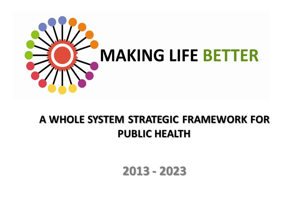 A WHOLE SYSTEM STRATEGIC FRAMEWORK FOR PUBLIC HEALTH