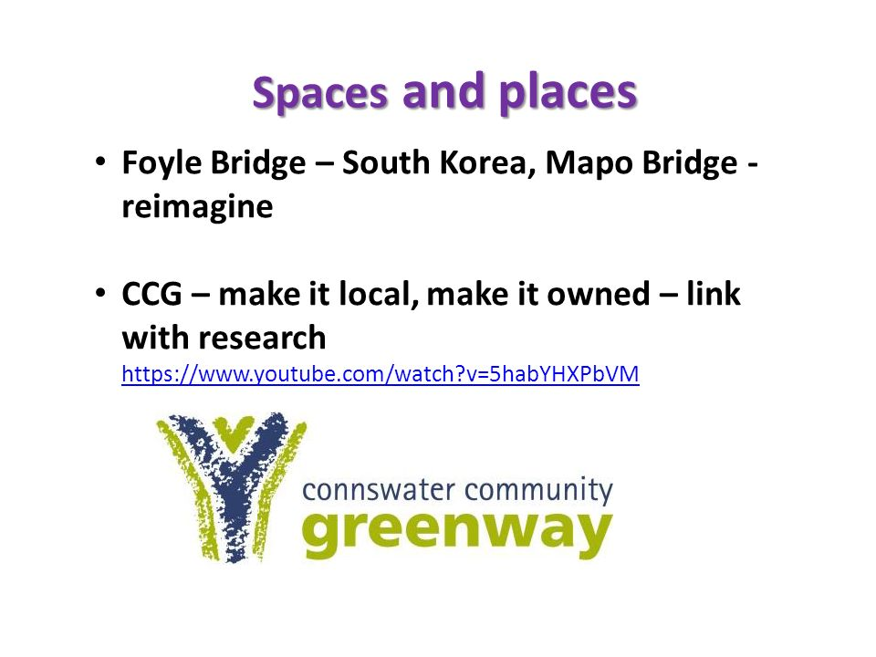 Spaces and places Foyle Bridge – South Korea, Mapo Bridge - reimagine