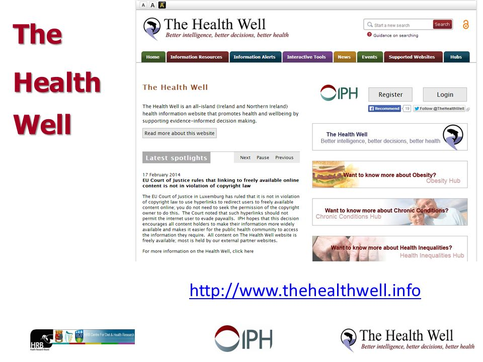 The Health Well   Aims: