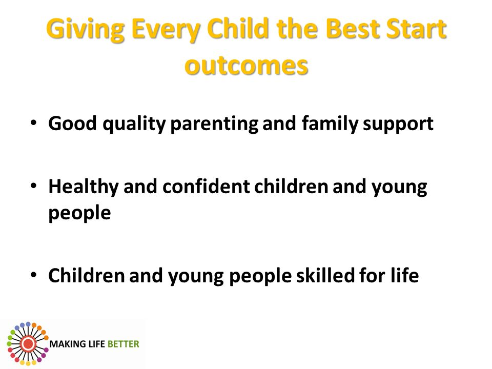 Giving Every Child the Best Start outcomes