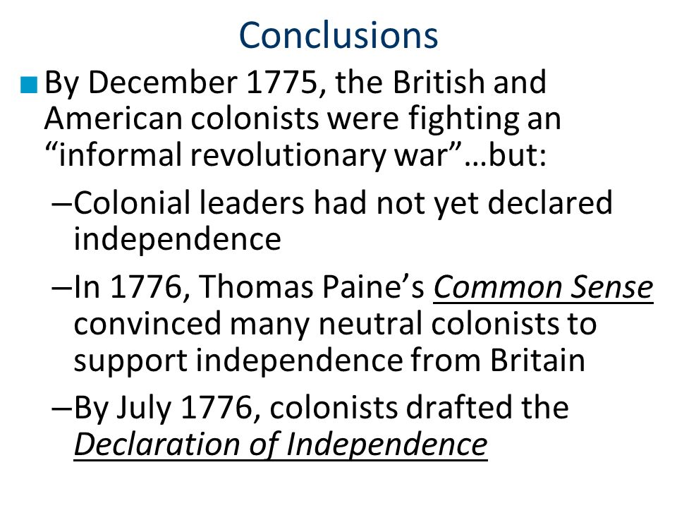 the reasons for american independence from great britain The events leading to independence 9 the events leading to independence  the 1770 boston massacre was only one in a series of events that led american colonists to revolt against britain this was not the first time american colonists found themselves in dispute with great britain but this time the cooler heads did not prevail.