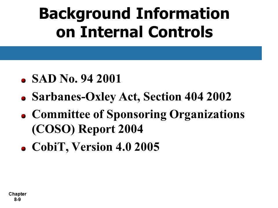 the sarbanes oxley act internal controls essay Need essay sample on an analysis of the sarbanes-oxley act  an analysis of the sarbanes-oxley act as a  management assessment of internal controls.