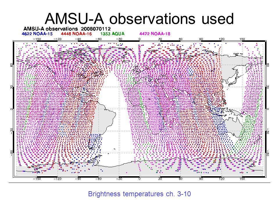 AMSU-A observations used