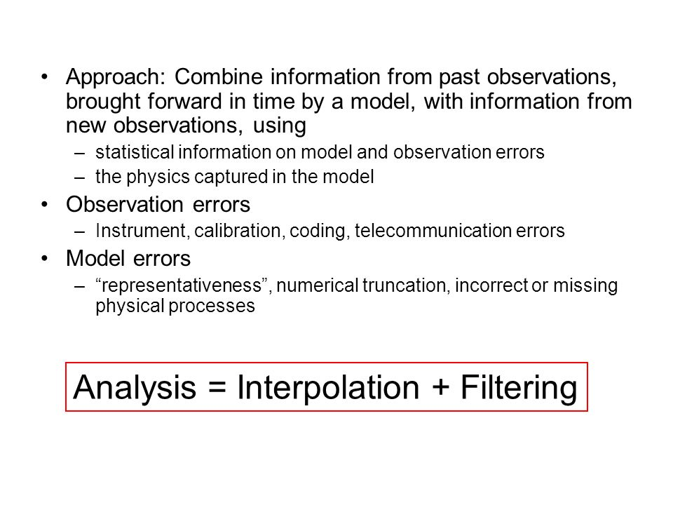 Analysis = Interpolation + Filtering
