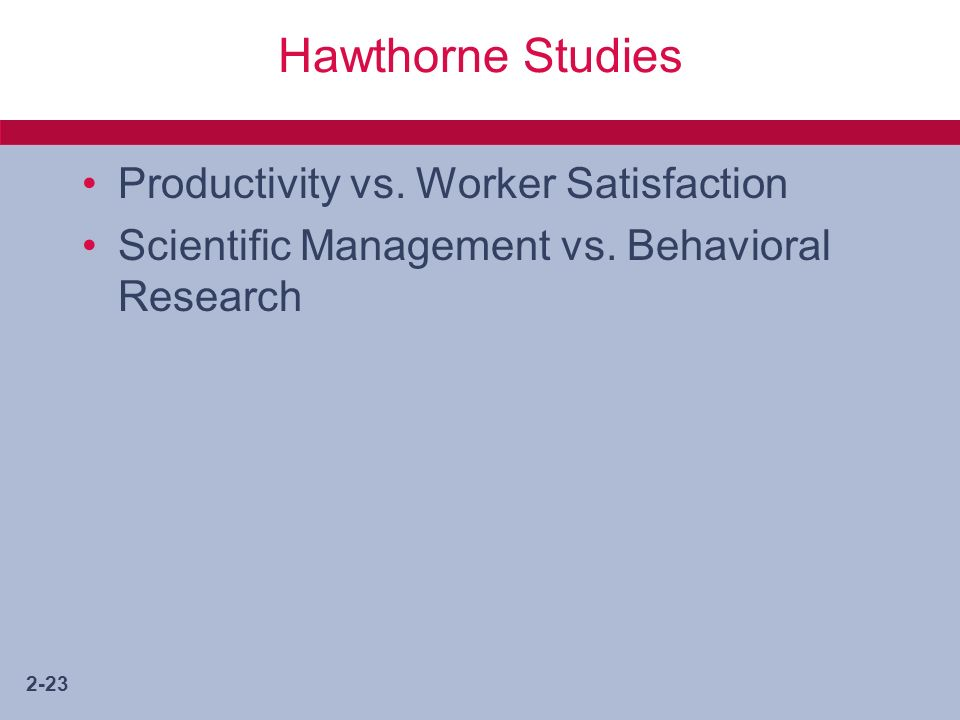 the importance of the hawthorne studies to management thinking Modern management theories and practices by dr yasin olum at kenya school of monetary studies 1 modern management theories and practices: a critical overview importance of women in the organizational hierarchy will be emphasized.