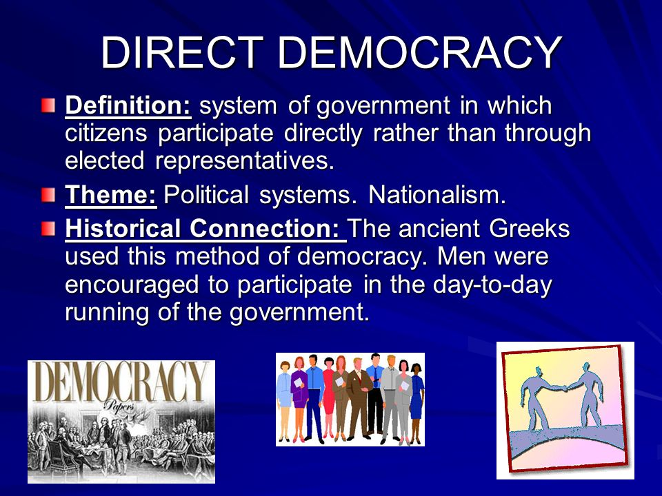 Key Terms of Global History - ppt video online download Direct Democracy Examples