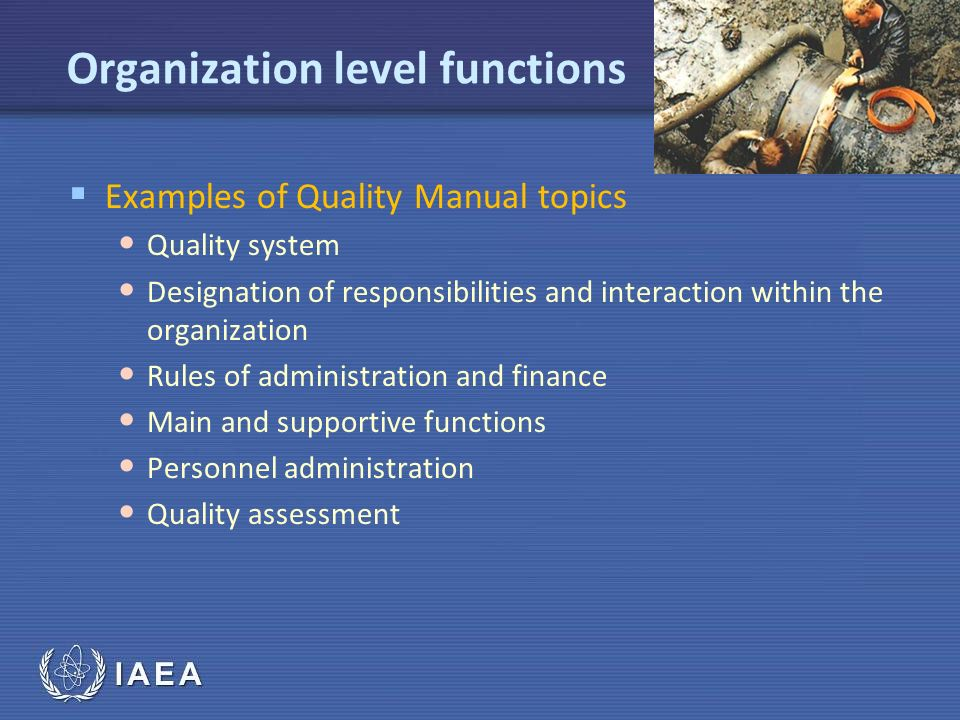 Organization level functions