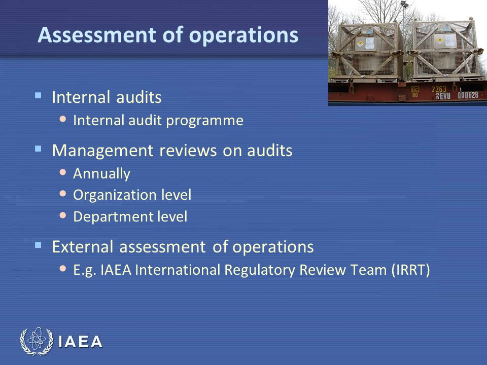 Assessment of operations