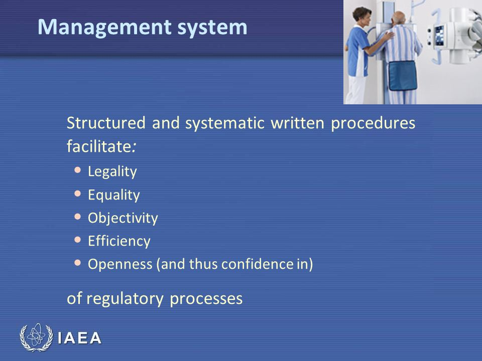Management system of regulatory processes