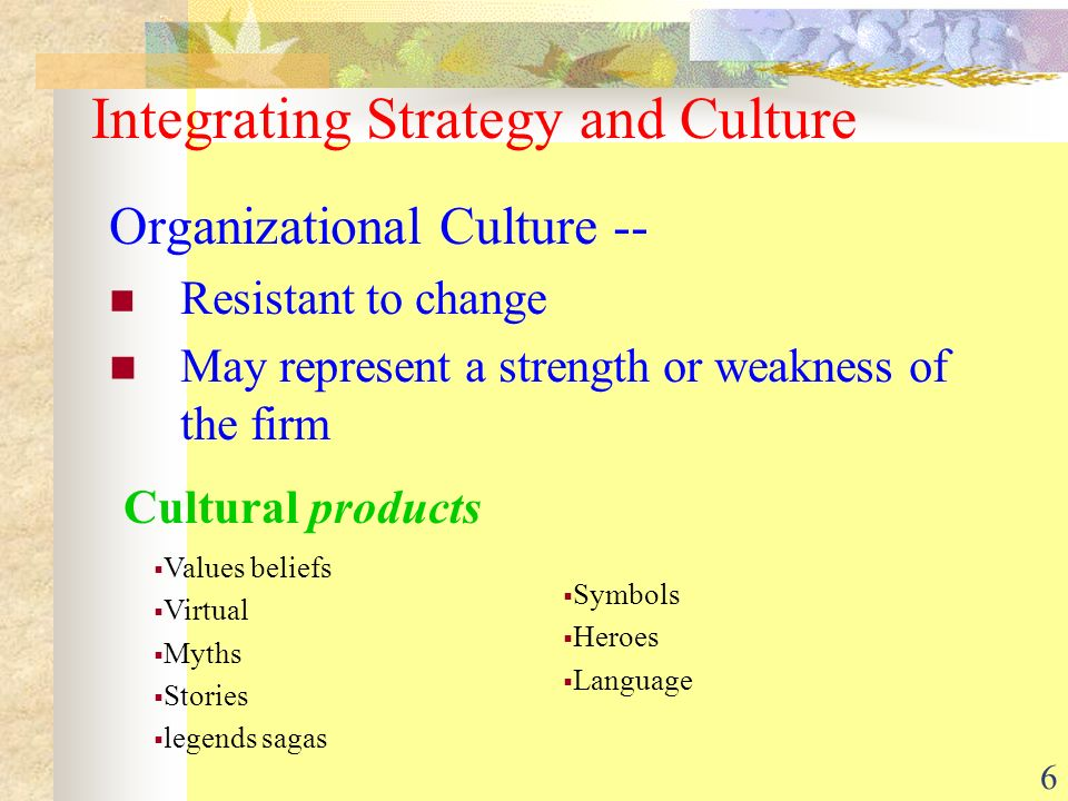 the importance of the organizational culture and its role in the process of introducing changes in a Change management (sometimes abbreviated as cm) is a collective term for all  approaches to prepare and support individuals, teams, and organizations in  making organizational change the most common change drivers include:  technological evolution, process  many change management models and  processes are based with their roots.