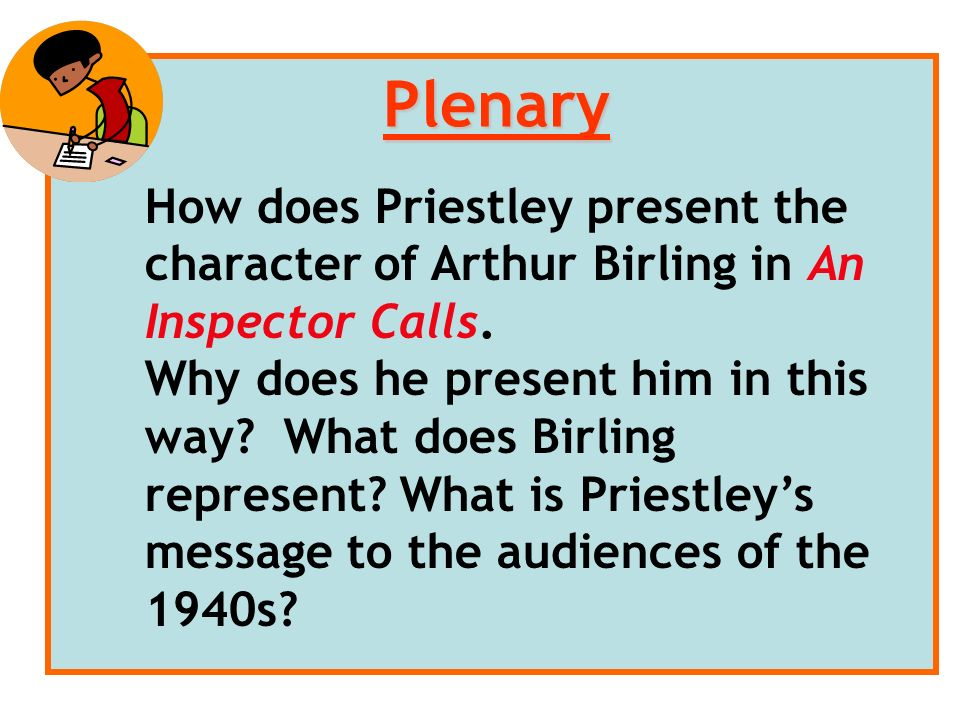 how does priestley present the change Priestley is interested in the well-worn idea that the young have the capacity to  change, accept new ideas and move forwards while their.
