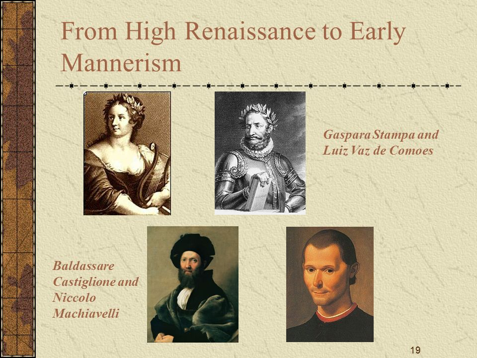 high renaissance and early mannerist Artists of the early renaissance and the high renaissance developed  when mannerism matured  and dramatic colors of the high renaissance mannerist.