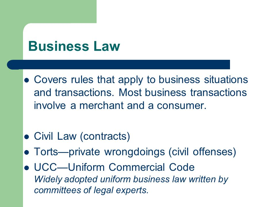 titile business law the laws applied Agriculture: laws and regulations that apply to your agricultural operation by farm activity.