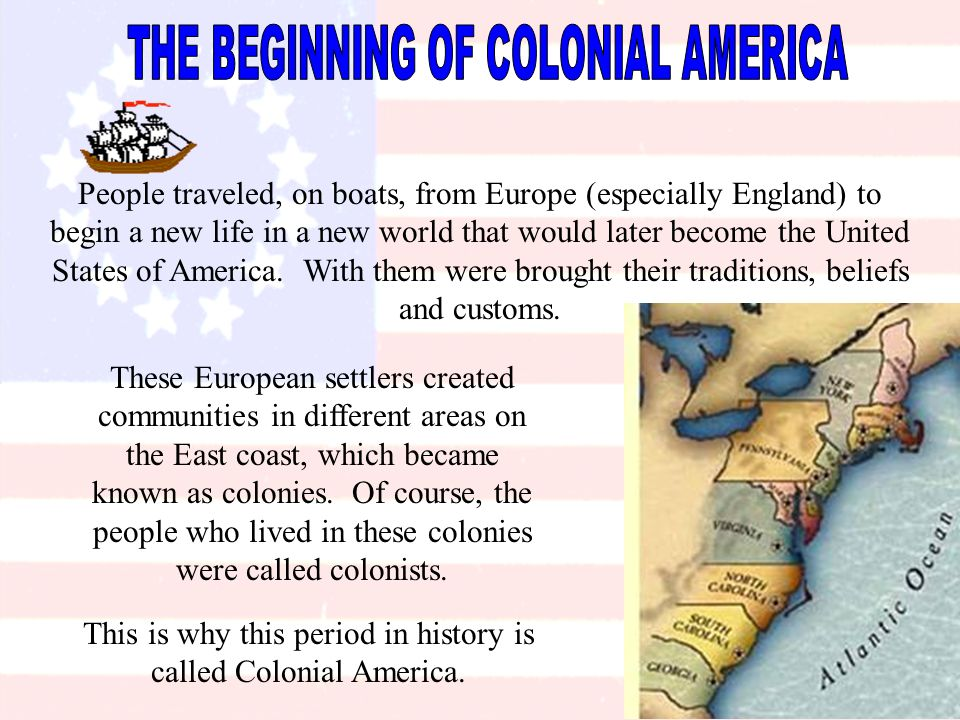 a summary of the periods in us history of colonial america The great awakening and enlightenment in colonial america during the late seventeenth and early eighteen centuries, colonial america saw major changes american cities became important.