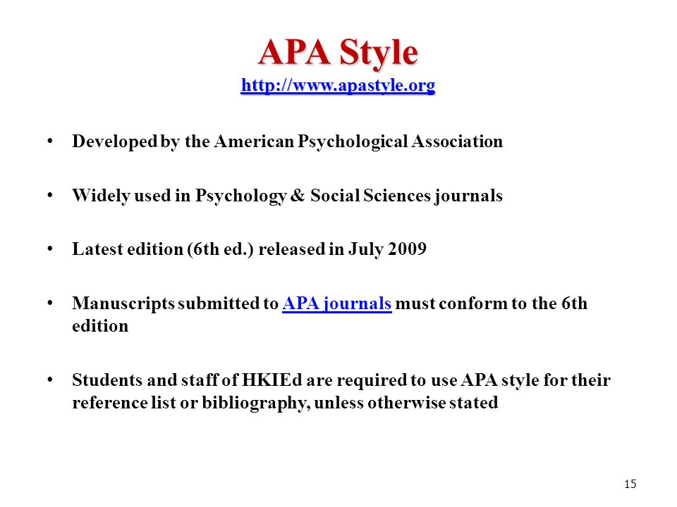 apa 6th style