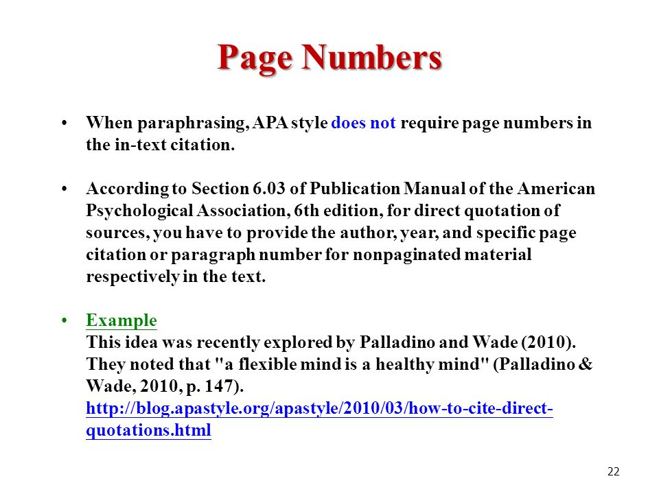 apa dissertation page numbers