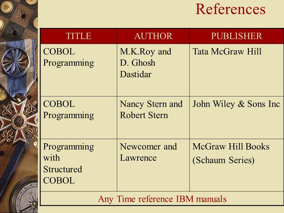 Cobol Ansi 85 Programming reference Manual