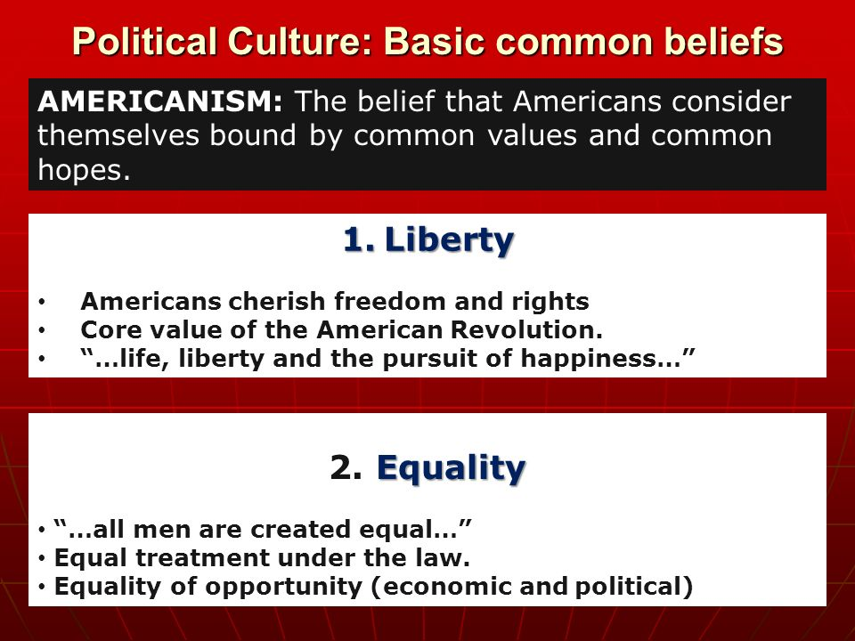 Chapter 4 American Political Culture Ppt