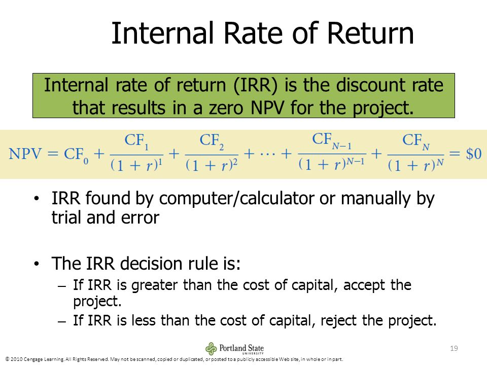 internal rate of return and slab casting essay This research paper capital budgeting and other 64,000+ term papers, college essay examples and free essays are available now on (internal rate of return) 5.