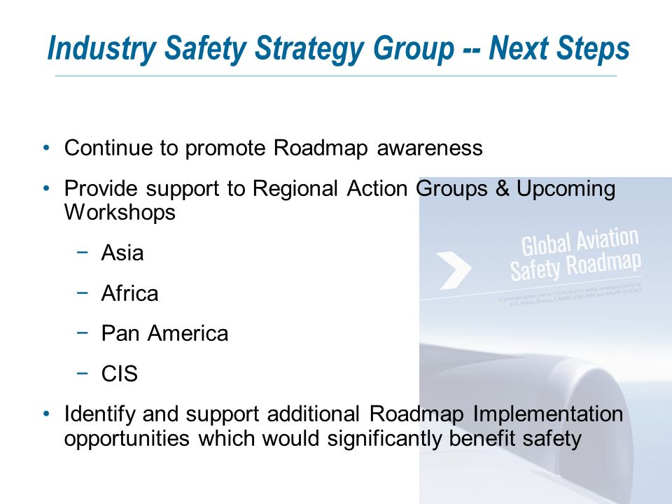 """identifying the safety problems in americas commercial airline industry • industry involved in identifying problem • industry """"buy-in"""" re solutions because everyone had input, everyone's interests and concerns considered."""