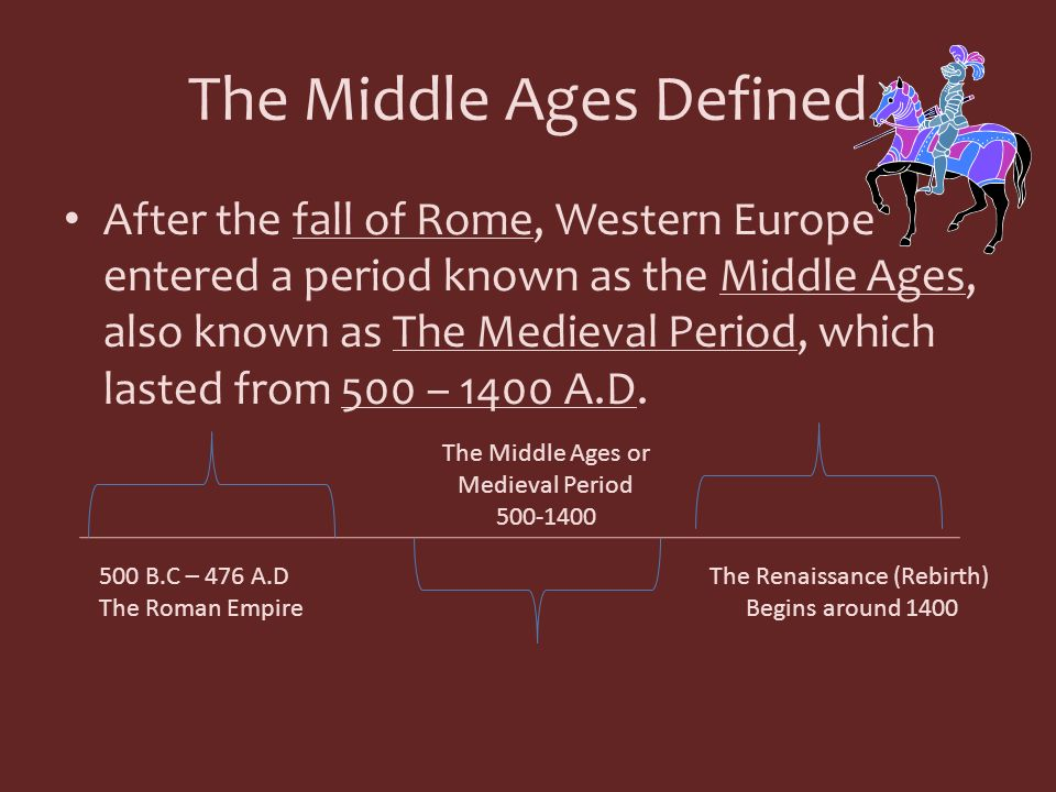 The Middle Ages Defined