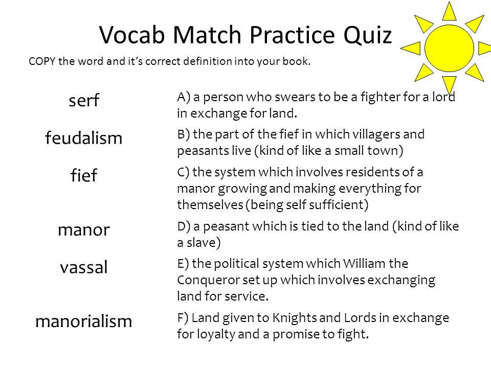 Good 30 Vocab Match Practice Quiz